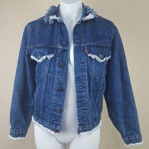 Custom Vintage 80's Levis Trucker Jacket Denim 34